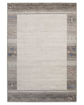 Alfombra étnica INFINITY 32754 6364 en tonos grises y pequeños motivos étnicos de colores