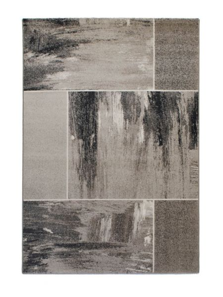 Alfombra moderna INFINITY 32918 7324 en tonos grises