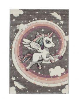 Alfombra infantil Kinder 22392 Unicornio color pastel