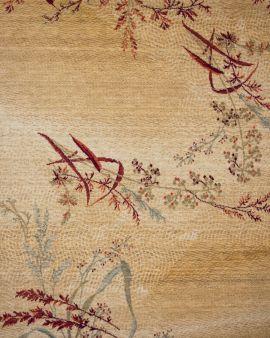 alfombras de lana kirman shirakami beig detalle