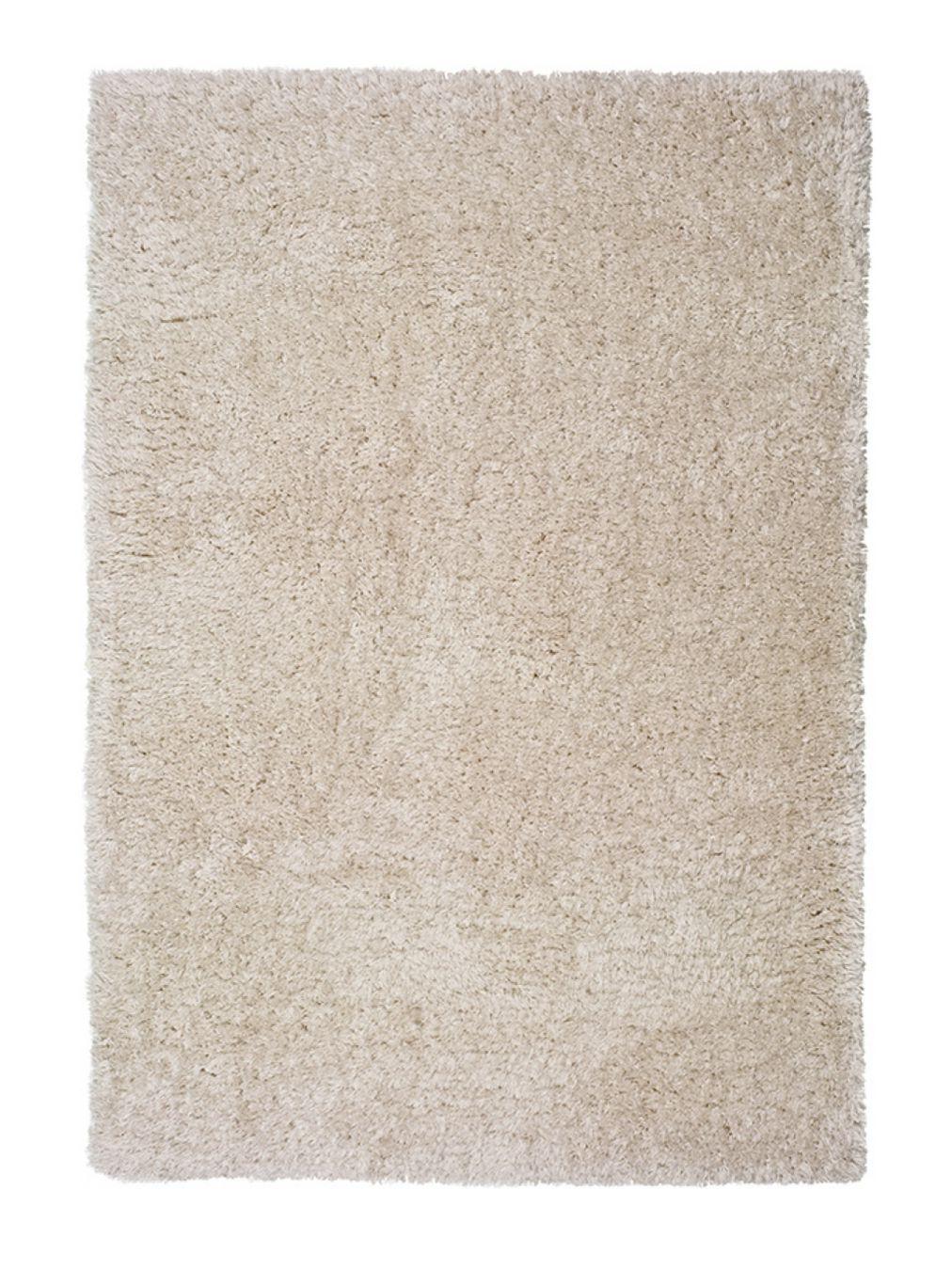 Alfombra de pelo largo beige floki alfombras nelo - Alfombra redonda pelo largo ...
