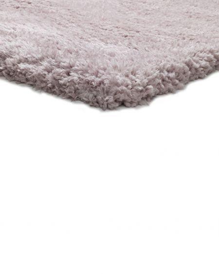 alfombra de pelo largo floki rosa al detalle