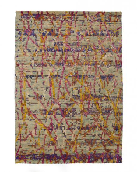 Alfombra Manual Lana y Seda Blue 239x166