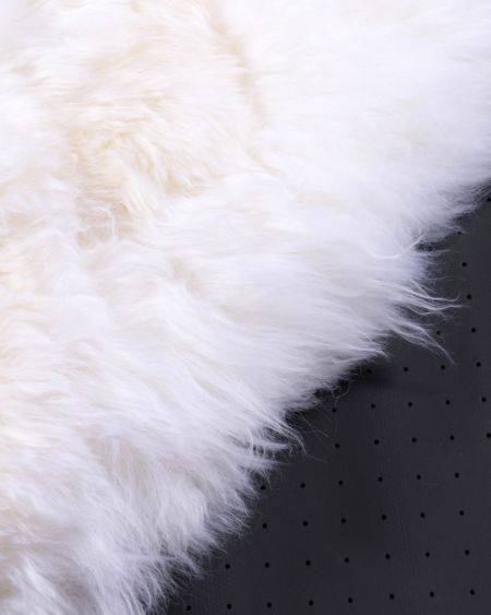 Alfombra redonda Piel de cordero Mouton
